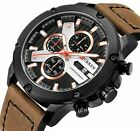 CURREN Casual Sport Watches for Men Top Brand Luxury Military Leather Wristwatch image