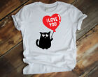 NEW! I Love You  St. Valentines Day Cute Cat T-shirts Sweaters S-3XL
