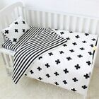 Baby Bedding Cotton Crib Sets Cross Pattern Baby Cot Set Including Duvet Cover