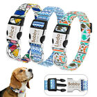 Unique Soft Nylon Personalised Dog Collar for Small Large Dogs Engrave Nameplate