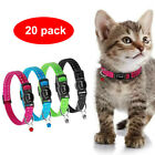 20pcs Bulk Sale Nylon Cat Collar Quick Release Buckle Reflective Pet Cat Collars