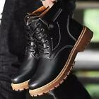 Winter Warm Male Martin Boots Waterproof Lace Up Snow Boots Non-slip Work Shoes