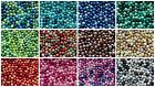 400 4mm, 200 6mm, Or 100 8mm Glass Pearl Beads/glass Pearl Bead Mixes-16 Mixes