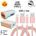 For Samsung Galaxy Note10 S8 S9 S10 Plus 3.0 Fast Car Wall Charger Type-C Cable