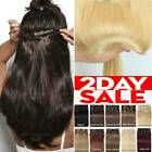Kyпить CLEARANCE Clip in Human Hair Extensions Full Head 100% Real Remy Hair Soft Long  на еВаy.соm