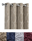 Contemporary Trellis Geo Blackout Grommet Top Window Curtains - Assorted Colors