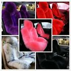 1Pc Universal Front Car Seat Cover Real Australian Sheepskin Long Fur Fit most $42.99 USD on eBay