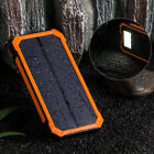 100000mAh 2 USB Solar Power Bank Pack External Battery Charger for Cell Phone US
