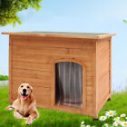 Big Wooden Dog Kennel Large Winter Warm House Weather Proof Shelter Outdoor Home