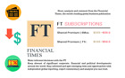 Kyпить Financial Times SHARED PREMIUM Digital Subscriptions MARKET UPDATE ANYTIME на еВаy.соm