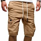 Mens Cargo Shorts Pants Summer Casual Jogger Sport Army Combat Trousers Elastic