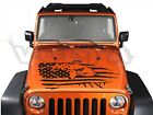 Vinyl Hood Decal For Jeep Wrangler - Patriotic Eagle American Flag Graphic USA
