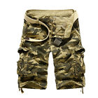 Mens Military Army Camo Cargo Shorts Summer Casual Work Pants Trousers Tactical