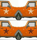 Set of 2 America US U.S Army Distressed Star Vinyl Decal Sticker Dodge $9.95 USD on eBay