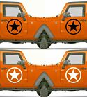 Set of 2 America US U.S. Army Distressed Star Vinyl Decal Sticker Dodge $10.75 USD on eBay