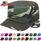 Cadet Hat Castro Style Army Caps Mens and Womens Baseball Cap Adjustable Size