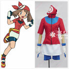 Pokemon May Trainer uniforms costume cosplay full set with gloves#