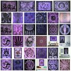 PURPLE Wall Hanging Tapestry Mandala Boho Hippie Wall Art Poster