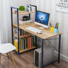 Large  Corner Computer PC Desk Home Office Furniture 4 Drawer & Shelf Table UK