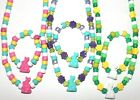 Kyпить Girls Toddler Easter Jewelry Set Bunny Spring Necklace + bracelet handmade NEW  на еВаy.соm