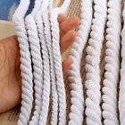 2M Beige Cotton Rope String Cords Three Twisted Twine Sash 4-20mm Craft Decors