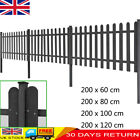 3 Pcs Garden Picket Fence With Posts 2 M Long Barrier Patio Fence Waterproof