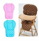 Pink Blue Polka Dot Cushion Pad Mat Seat Liner Cover For Silver Cross High Chair