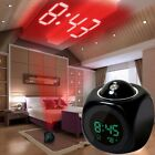 1PC Alarm Clock LED Wall Ceiling Projection LCD Digital Voice Projection Digital