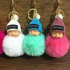 New Cute Sleeping Baby Pendant Key Chain Plush Doll Keychain Car Keyring ZG01