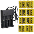 16340 Battery 3.7V 2800mAh Li-Ion Rechargeable CR123A Intelligence Charger LOT