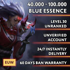 Euw League Of Legends Lol Account Smurf 40.000 - 100.000 Be Unranked Level 30 Pc