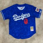 BAPE X Mitchell Ness Los Angeles Dodgers Jersey Blue Limited Edition size S & L