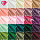 """65"""" Wide Premium BRIDAL SATIN FABRIC Silky Soft Ultra Shinny 27 colors by yard"""