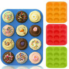 12 SILICONE LARGE MUFFIN YORKSHIRE PUDDING MOULD CUPCAKE BAKING TRAY BAKEWARE