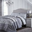 Catherine Lansfield Damask Jacquard Silver Duvet Set S/D/K/SK or Accessories