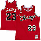 Michael Jordan #23 Chicago Bulls Men's M&N Red w Cursive Chicago Classic Jersey on eBay