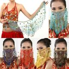 Belly Dancer Veil Accessories Dancing Sequin Beaded Coins Face Veil Wear