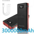 2021 3000000mah Portable Power Bank LCD 4 USB Battery Charger For Mobile Phone