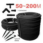 SPECIAL SET__Garden SOAKER HOSE Leaky Irrigation System POROUS PIPE >>> 50m~200m
