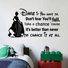 Cinderella Disney Quote Cartoon Home Room Wall Sticker Vinyl Art Decal Decor