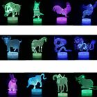 12 Symbolic Animals 3D Night Light 7 Colors Change LED Desk Table Lamp Decor