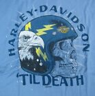 Dudley Perkins Co. Harley-Davidson Blue 'Til Death T-Shirt ***BRAND NEW*** image