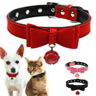 Pink Bowknot Dog Leather Collar for Small Dogs Cats for Chihuahua Yorkie XXS-M