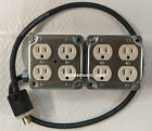 8 Outlet 125V 15A Power Distro Box 12/3 Power Cable, US Made Select Your Length