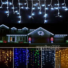 Connectable 9.8FT 96 LEDs Fairy String Lights Icicle Curtain Outdoor Xmas Decor