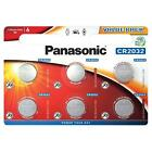 6 X Panasonic CR2032 3V Battery Lithium Coin Cell DL/BR 2032 Car Key Batteries