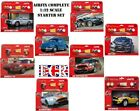 AIRFIX ICONIC CARS 1:32 STARTER KIT SET GLUE BRUSH 4 ACRYLIC PAINT AUTOS