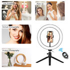 "10"" LED Ring Light w/Tripod Stand+Phone Holder+Remote Kit for Live Stream Selfie"