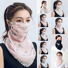 Half Face Mouth Cover Neck Scarf Shawl Veil Breathable For Women Sun Protection