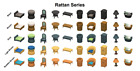RATTAN SET IN EVERY COLOR [Nintendo] Animal Crossing New Horizons